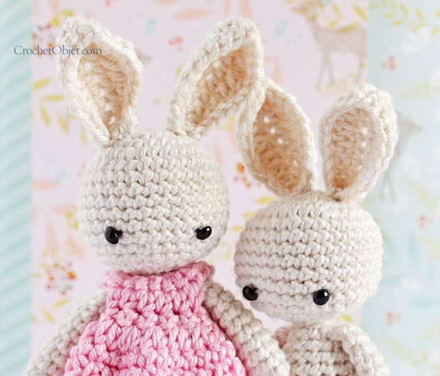 Free Crochet Pattern For A Rabbit : Baby Bunny Ears ? CrochetObjet by MoMalron