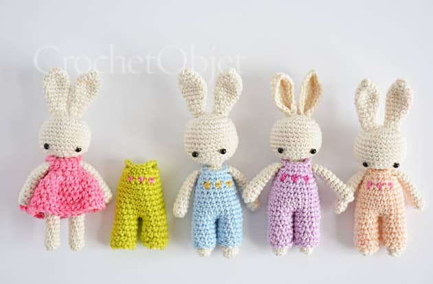 10*8 CM Mini Pink Blue Rabbit Knitted Doll Creative Pendant ... | 414x630