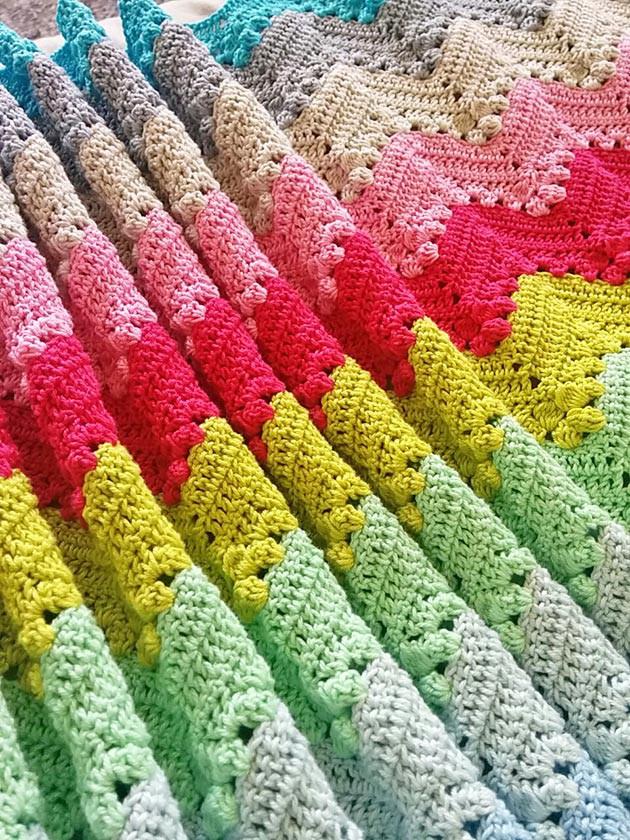 Cotton Ripple Blanket Crochetobjet