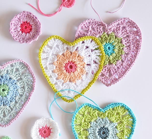 Crochet Heart Pattern Crochetobjet
