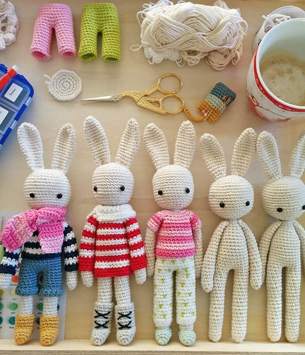 Crochet Bunny family