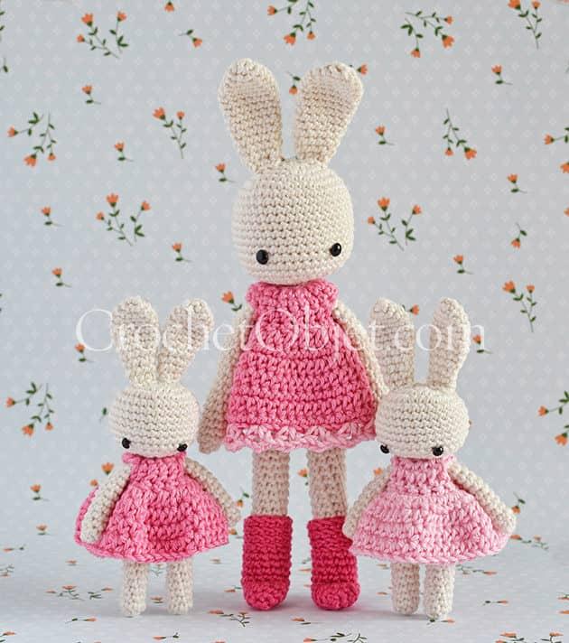 Baby Dress Beautiful Amigurumi animal rabbit with summer dress ... | 712x630