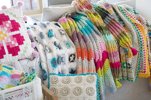 cotton crochet blankets spring sale!