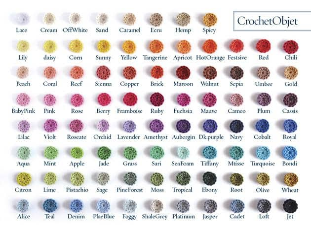 cotton yarn colours