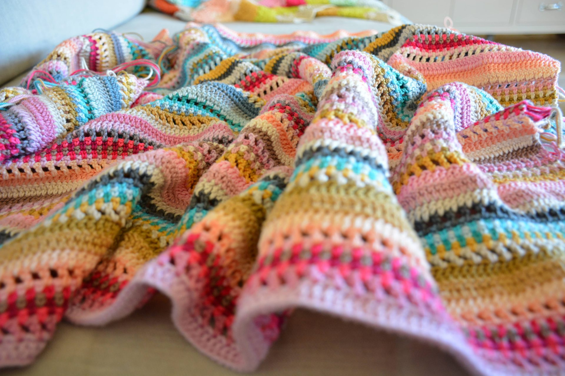 Stripes And Colours Blanket Introduction Crochetobjet