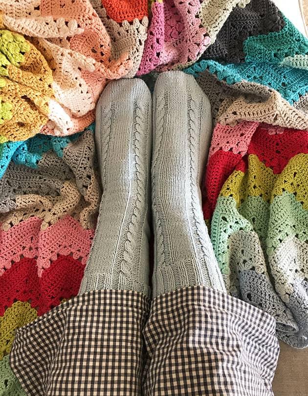 My Socks Knitting Journey Pair 5 Cotton Cable Socks Crochetobjet