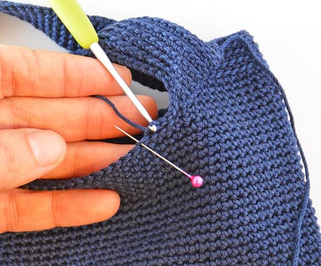 crochet sl st edge