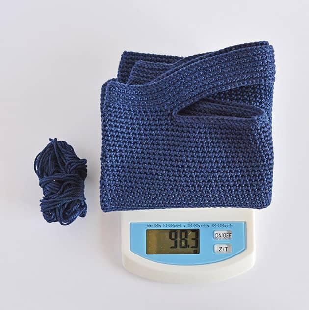 crochet bag measurments