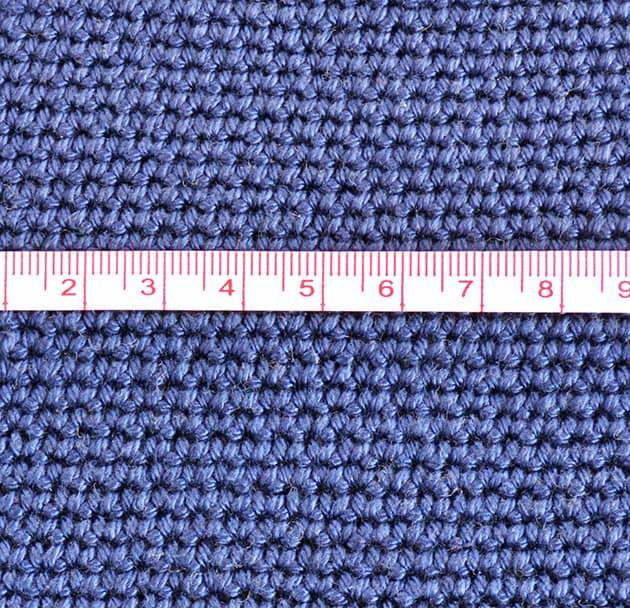 crochet bag gauge