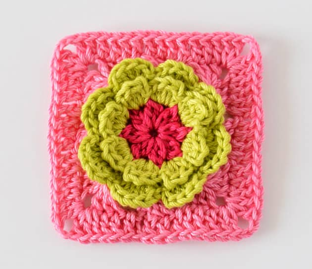 flower square pattern