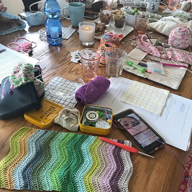 cotton yarn crochet blanket