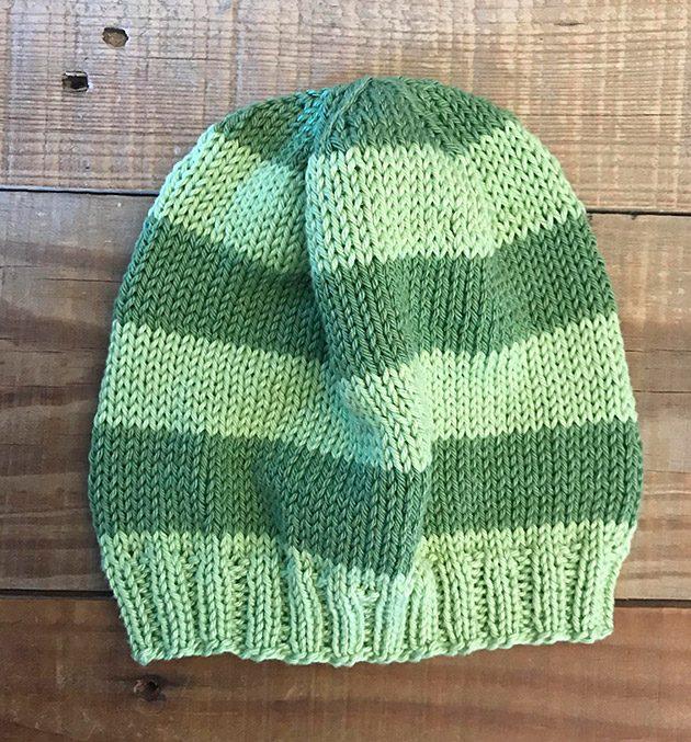 Stripe baby hat knitting pattern