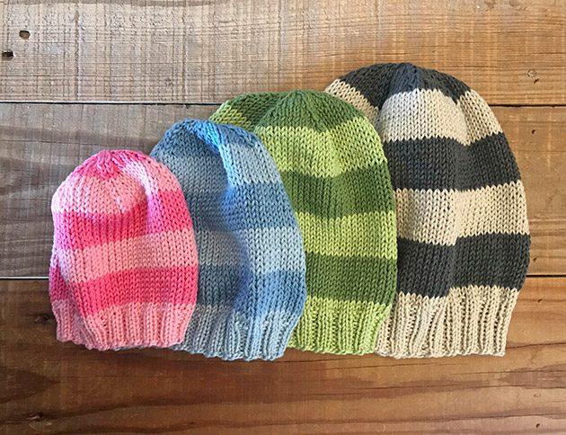 cotton stripe knitting pattern