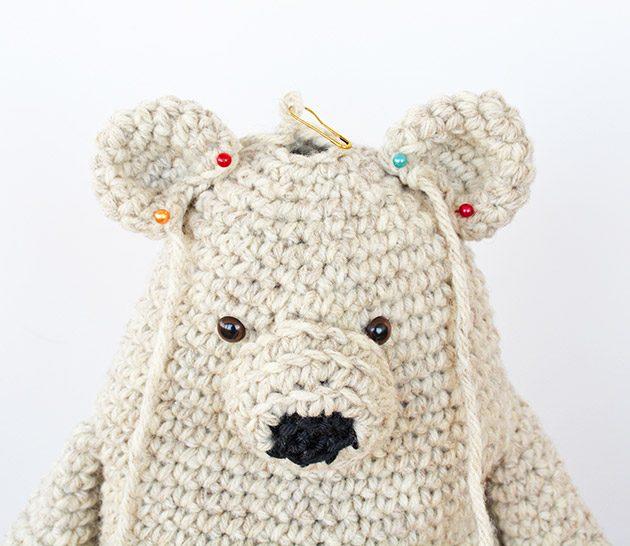 crochet benji bear pattern head
