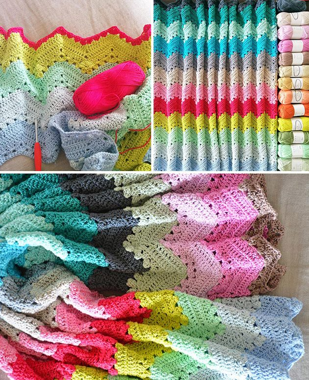 Four seasons chevron blanket