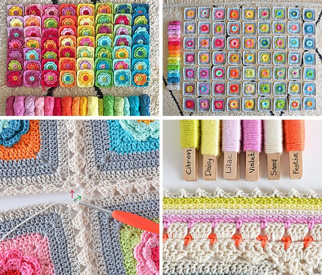 love garden crochet blanket