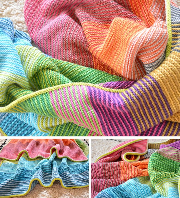 kiss blanket garter stitch knitting