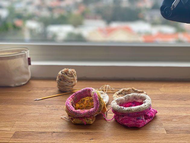 Kitchener stitch on socks knitting