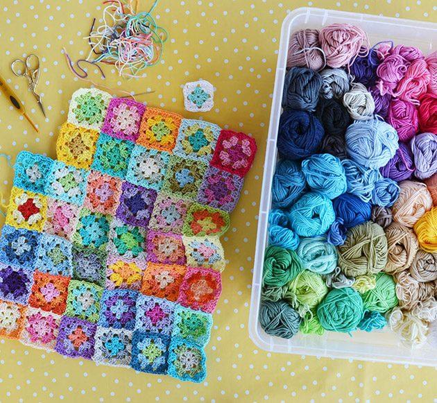 granny square day 2021 bloom blanket