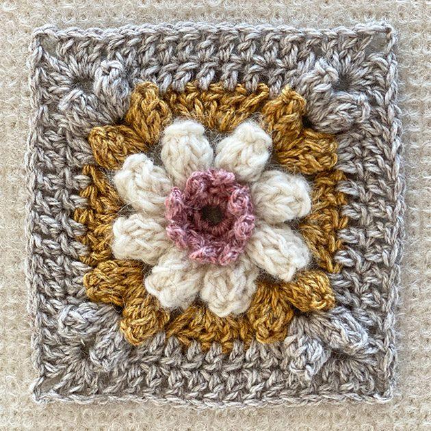 wild daisy granny square